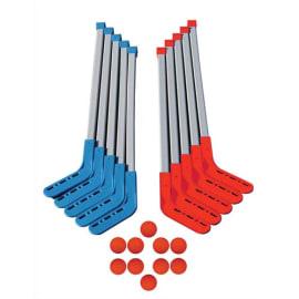 FIRST LOISIRS Lot de 10 crosses de Hockey entrainement junior, tête amovible + 10 balles lisses photo du produit