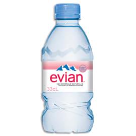 EVIAN Bouteille plastique d'eau 33 cl minérale plate photo du produit