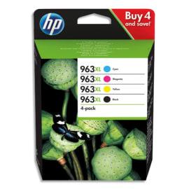 HP Pack 4 cartouches haute capacité 963XL Cyan/Magenta/Jaune/Noir 3YP35AE photo du produit