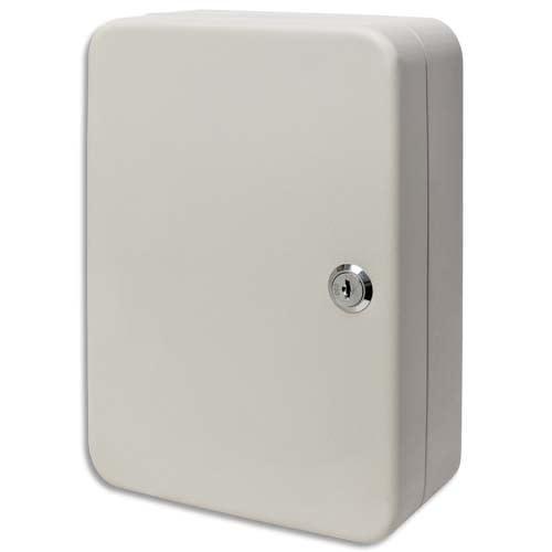 Armoire à clés capacité 30 clés Grise - Dimensions : L16 x H20 x P8 cm photo du produit Principale L