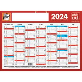 PLEIN CIEL Calendrier bancaire, 7 mois par face soit 14 mois - format : 32 x 42 cm photo du produit