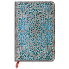 PAPERBLANKS Carnet (élastique) Filigrane Argenté Maya Bleu Classique Mini 9,5x14cm 176 pages unies photo du produit