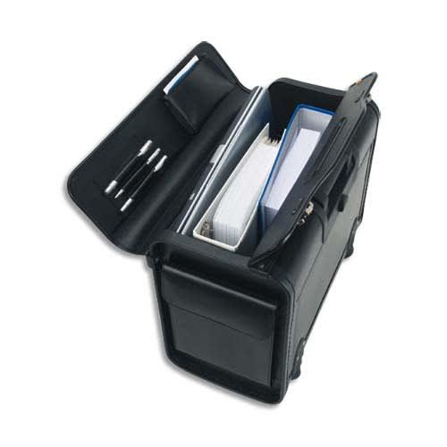 ALASSIO Pilot Case Trolley Noir en simili cuir, serrure à combinaison, compartiments L48,5 x H37 x P23 cm photo du produit Principale L