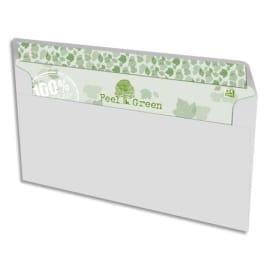 OXFORD Boîte de 500 enveloppes recyclées extra Blanches 90g format DL 110x220 mm photo du produit