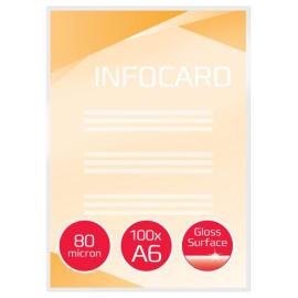 GBC Paquet de 100 Pochettes de plastification GBC A6, 2 x 80 microns, brillantes IB585067 photo du produit