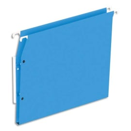Boîte de 25 dossiers suspendus ARMOIRE en kraft 220g. Fond 15mm, volet agrafage + pression. Bleu photo du produit