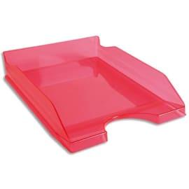 Corbeille à courrier ECO en polystyrène, Rose translucide - Dimensions : L25,5 x H6,5 x P34,5 cm photo du produit