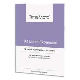 SAFESCAN Pack 100 utilisateurs supplémentaires TM-UEP-100 pour Logiciel TM Cloud+ 139-0593 photo du produit