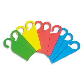 SODERTEX Lot de 10 Plaques de porte en mousse EVA 4 coloris Assortis, Format 26,5 x 8,5 cm, épaisseur 4mm photo du produit