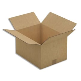 Paquet de 15 caisses américaines double cannelure en kraft brun - Dimensions : 41 x 24 x 31 cm photo du produit