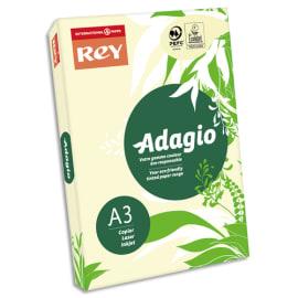 INAPA Ramette 500 feuilles papier couleur pastel ADAGIO Ivoire pastel A3 80g photo du produit