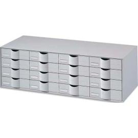 PAPERFLOW Bloc classeur à 16 tiroirs pour documents 24 x 32 cm Dimensions L107,6 x H32,9 x P34,2 cm Gris photo du produit