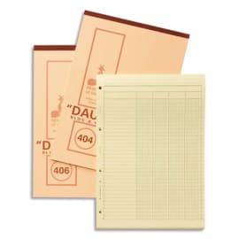LE DAUPHIN Bloc à colonnes mutiples 50 feuilles 29,7x21 cm 6 colonnes photo du produit