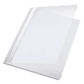 PERGAMY Chemise de présentation à lamelle en PP 17/100eme format A4. Coloris Blanc photo du produit