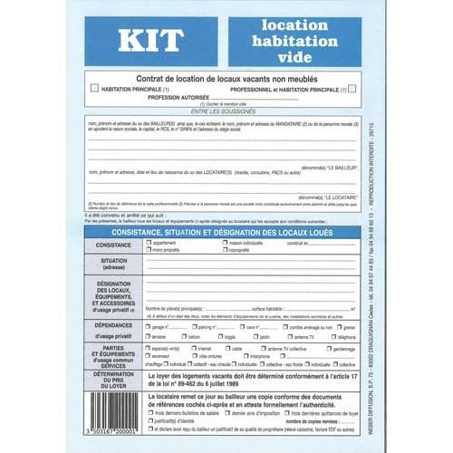 WEBER DIFFUSION kit location - habitation vide-720 photo du produit Principale L