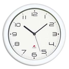ALBA Horloge murale Hornew sielncieuse mouvement quartz à pile 1AA non fournie - D30 cm, P4,08 cm Blanc photo du produit