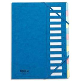 EXTENDOS Trieur en carte forte vernie 12 compartiments Bleu MON DOSSIER photo du produit