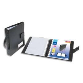 VIQUEL Protège documents GEODE METEOR en polypro opaque 10/10. 60 pochettes, 120 vues. Coloris Noir photo du produit