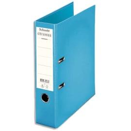 ESSELTE Classeur à levier CHROMOS PLUS en polypropylène, dos de 8cm, coloris Bleu ciel photo du produit