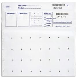 WONDAY Lot de 100 sachets de sécurité pour billets 14202-1 photo du produit