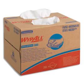 WYPALL Boîte distributrice d'essuyage X60, 200 formats - Dimensions L33 x H23,5 x P24,9 cm coloris Blanc photo du produit
