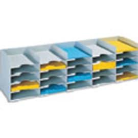 PAPERFLOW Bloc classeur à 20 cases fixes pour doc A4 capacité 500 feuilles L89,7 x H31,3 x P30,4 cm Gris photo du produit