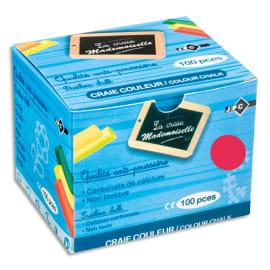 WONDAY Boîte de 100 craies anti-poussière coloris Rouge photo du produit