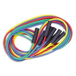 FIRST LOISIRS Lot de 4 maxi cordes à sauter, longueur 4 m, couleurs assorties. Fabriqués en France photo du produit