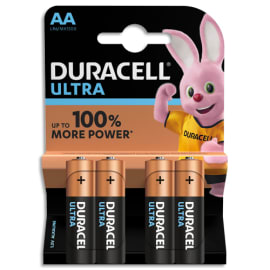 DURACELL Blister de 4 piles Alcalines 1,5V AA LR06 Ultra Power Duralock 5000394002562 photo du produit