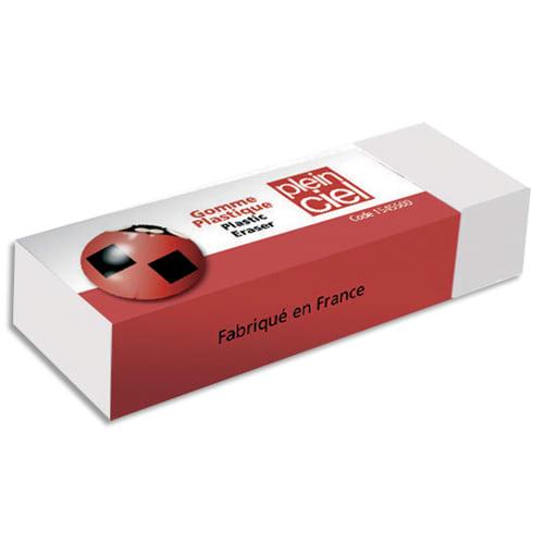 PLEIN CIEL Gomme plastique pour crayon et mine graphite sur papier calque, fourreau carton. photo du produit Principale L