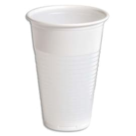 HUHTAMAKI Sachet de 100 gobelets 20 cl Blanc manuel en polypropylène - Hauteur 10,5 cm Diamètre 7,03 cm photo du produit