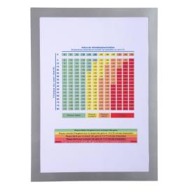 EXACOMPTA Pochette d'affichage magnétique format A4. Coloris cadre argent photo du produit
