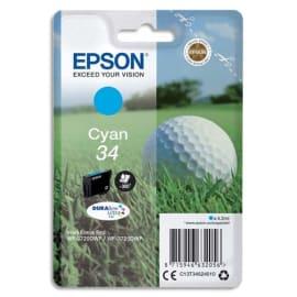 EPSON Cartouche balle de golf Jet d'encre durabrite ultra Cyan C13T34624010 photo du produit