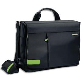 LEITZ Sac Inch Messenger pour ordinateur 15.6 intérieur Vert, poche + pochette - L38 x H28 x P11 cm Noir photo du produit