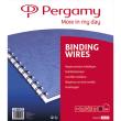 PERGAMY Boîte de 100 peignes anneaux métalliques, 34 boucles 12.7mm Noir 900123 photo du produit