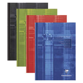 CLAIREFONTAINE Carnet de bord piqûre 40 pages 14,8x21cm. Couverture carte assortie photo du produit
