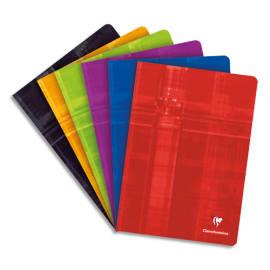 CLAIREFONTAINE Cahier reliure piqûre grand format 21x29,7cm 96 pages grands carreaux Séyès papier 90g photo du produit