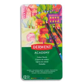 DERWENT ACADEMY Boîte de 12 crayons de couleur, couleurs assorties photo du produit