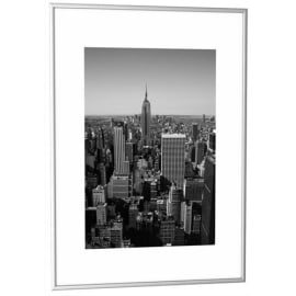 PAPERFLOW Cadre photo contour aluminium coloris Argent, plaque en plexiglas. Format 42 x 59 cm photo du produit