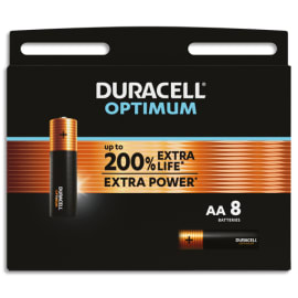 DURACELL Blister de 8 piles OPTIMUM AA 5000394137684 photo du produit