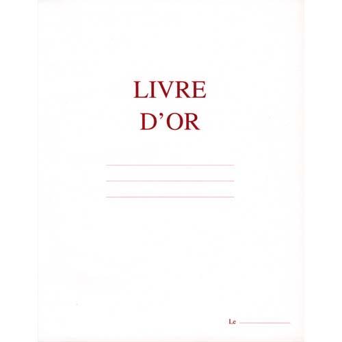 ELVE Livre d'Or format 210x160mm Blanc 148 pages. Couverture aspect cuir photo du produit Principale L