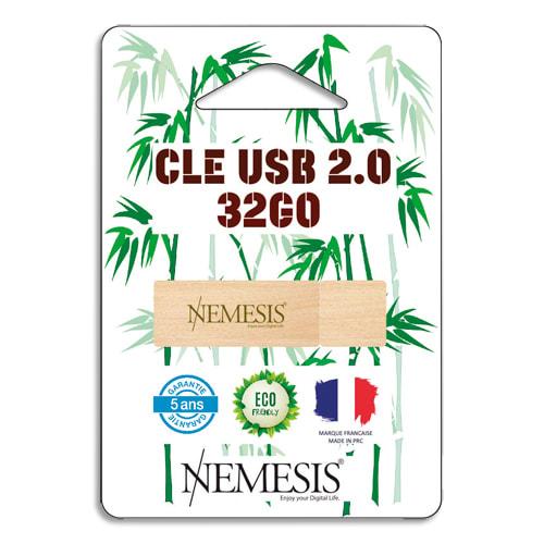 CAP DISTRIBUTION Clé USB 2.0 Nemesis en Bambou 32Go NEMCLE32BAMBOU photo du produit Principale L