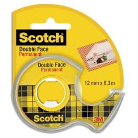 SCOTCH Ruban double face sur dévidoir 12 mm x 6 m photo du produit