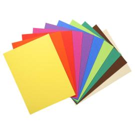 EXACOMPTA Paquet de 100 sous chemises FLASH 80 gr coloris assortis vifs, 100% recyclé photo du produit