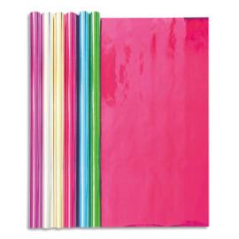 CLAIREFONTAINE Rouleau 2x0,7m papier métallisé 1 face. Coloris assortis photo du produit