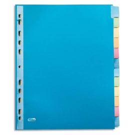 OXFORD Intercalaires COLOR LIFE, 12 positions en carte rigide 220g. Format A4+. Coloris assortis photo du produit