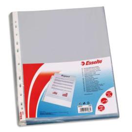 ESSELTE Sachet de 100 pochettes perforées A4 polypropylène lisse 7.5/100e incolore photo du produit