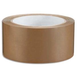 NEUTRE Adhésif d'emballage en PVC 53 microns - H50 mm x L66 mètres Havane photo du produit