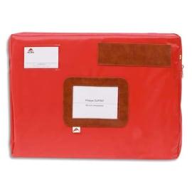 ALBA Pochette navette Rouge en PVC à soufflet dimensions : 42x32x5cm photo du produit