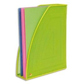 ALBA Porte-revues en métal Mesh - Dimensions : L26 x H33,5 cm, Dos 8cm coloris Vert photo du produit